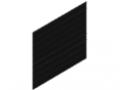 Griglia a filo doppio 50x200, 1830x2008, nero