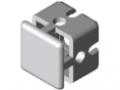 Profilato di bloccaggio - connettore a croce 6 30x30, alluminio brillante simile a RAL 9006