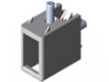 Connettore angolare per profilati di bloccaggio 8 32x18