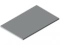 Piano per tavolo 30-1200x750 ESD HPL-plastificato, grigio simile a RAL 7035