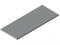 Piano per tavolo 30-1500x600 ESD HPL-plastificato, grigio simile a RAL 7035