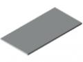 Piano per tavolo 30-1500x750 ESD HPL-plastificato, grigio simile a RAL 7035