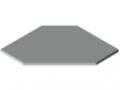 Piani per tavoli TRIGO 30-600 ESD HPL, grigio simile a RAL 7035