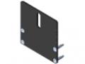 Piastra di copertura 80x80 per binario a rulli 80x40