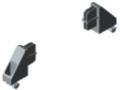 Set per l'accoppiamento 2x180° per profilato di separazione e guida 32x12