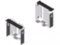 Set di montaggio per canalina portacavi E 160x160