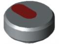 Dado zigrinato Pi D34 M5 PA, grigio
