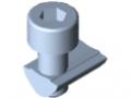 Set di fissaggio 5 4-6 mm con vite a testa cilindrica M5