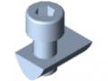 Set di fissaggio 8 4-6 mm con vite a testa cilindrica M8
