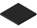 Polietilene rigenerato ad altissimo peso molecolare 10 mm, nero simile a RAL 9004